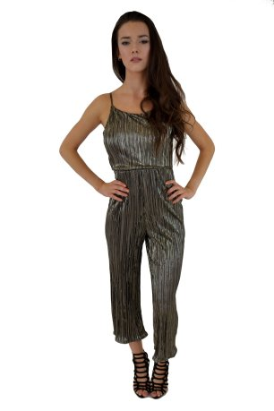 Metallic Culotte Jumpsuit in Black £20.00