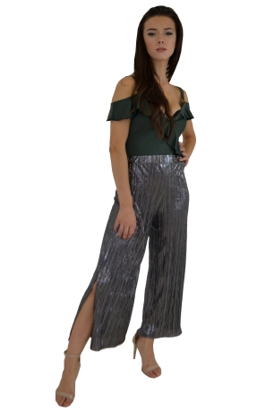Foil Pleated Culotte Trousers £18.00