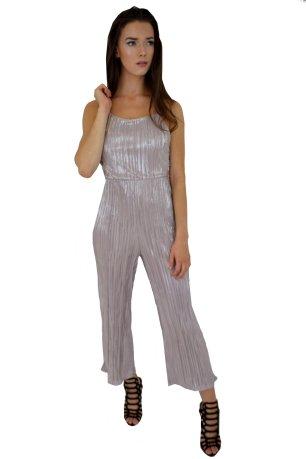 Metallic Culotte Jumpsuit in Silver, £20.00