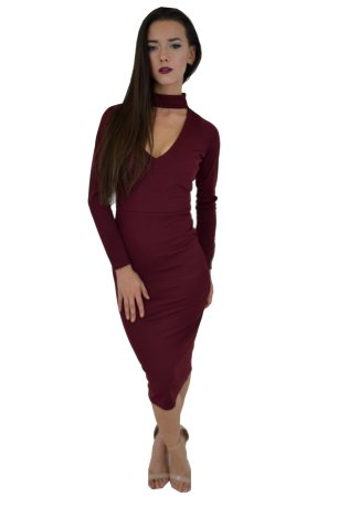 Ribbed Dress With Neck Band £20.00