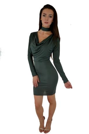 Slinky Draped Dress with Neck Tie £20.00